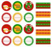 Elementos de la fiesta de Navidad ilustración del vector