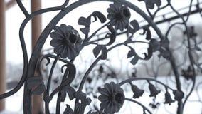 Elementos de la forja del arte y cerca del hierro Elementos decorativos rizados del metal áspero Elementos de la decoración del v Imagen de archivo