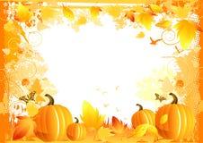 Elementos de la frontera del otoño Imágenes de archivo libres de regalías