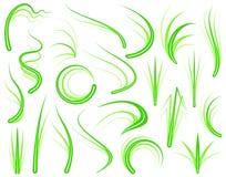 Elementos de la hierba Fotos de archivo libres de regalías