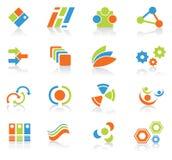 Elementos de la insignia Imágenes de archivo libres de regalías
