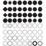 Elementos de la insignia Fotografía de archivo
