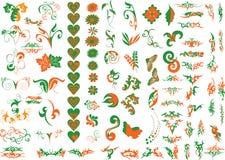 Elementos de la insignia Imagen de archivo