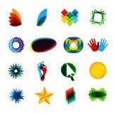 Elementos de la insignia de Colorfull Imágenes de archivo libres de regalías