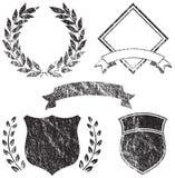 Elementos de la insignia de Grunge Imagen de archivo libre de regalías