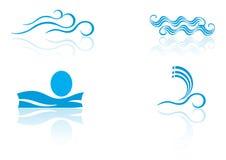 Elementos de la insignia del mar Imagen de archivo