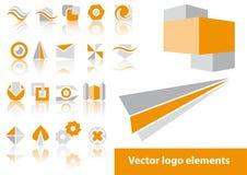 Elementos de la insignia del vector Fotografía de archivo libre de regalías