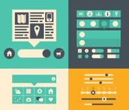 Elementos de la interfaz de usuario del sitio web Fotografía de archivo libre de regalías