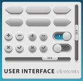Elementos de la interfaz de usuario del vector stock de ilustración