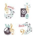 Elementos de la música Foto de archivo libre de regalías