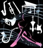 Elementos de la música del vector Foto de archivo libre de regalías