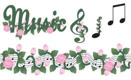 Elementos de la música Imagen de archivo libre de regalías