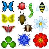 Elementos de la naturaleza stock de ilustración