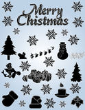 Elementos de la Navidad Imagenes de archivo