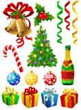 Elementos de la Navidad Imagen de archivo libre de regalías