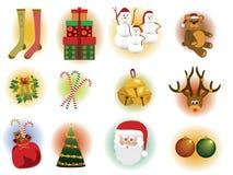 Elementos de la Navidad Imágenes de archivo libres de regalías
