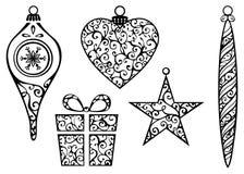 Elementos de la Navidad del vintage libre illustration