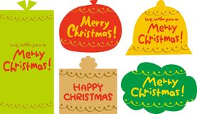 Elementos de la Navidad Letras escritas Feliz Navidad Diseño plano Ilustración del vector ilustración del vector