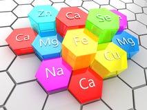 Elementos de la nutrición ilustración del vector