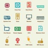 Elementos de la pieza del ordenador Imagenes de archivo