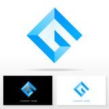Elementos de la plantilla del diseño del icono del logotipo de G de la letra - ejemplo Libre Illustration