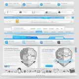 Elementos de la plantilla del diseño del sitio web Imágenes de archivo libres de regalías