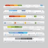 Elementos de la plantilla del diseño del sitio web Imagenes de archivo