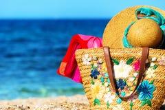 Elementos de la playa y del mar Imágenes de archivo libres de regalías
