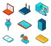 Elementos de la red de computación de la nube Fotos de archivo libres de regalías