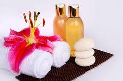 Elementos de la terapia del aroma Fotografía de archivo libre de regalías