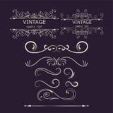 Elementos de las decoraciones del vintage Ornamentos y marcos caligráficos de los Flourishes Ilustración del vector libre illustration