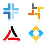 Elementos de las insignias/de la insignia de la compañía Foto de archivo libre de regalías