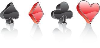 Elementos de las tarjetas que juegan del vector Fotos de archivo