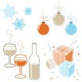Elementos de los días de fiesta de invierno libre illustration