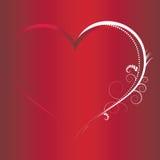 Elementos de los fondos de la tarjeta del día de San Valentín Imagenes de archivo