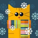 Elementos de los gatos del vector Fotografía de archivo