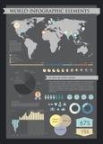 Elementos de los gráficos de la información Imagenes de archivo
