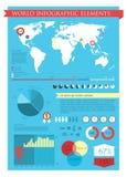 Elementos de los gráficos de la información Imágenes de archivo libres de regalías