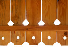 Elementos de madeira Foto de Stock