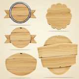 Elementos de madera Imagen de archivo libre de regalías