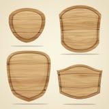Elementos de madera ilustración del vector