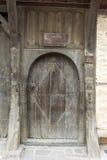 Elementos de madera del casa-museo en Koprivshtitsa, Bulgaria Imagen de archivo libre de regalías