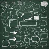 Elementos de Oldschool de la pizarra ilustración del vector