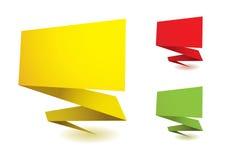 Elementos de Origami Imagem de Stock
