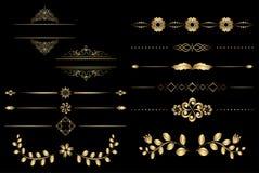 Elementos de oro del diseño con pendiente Foto de archivo