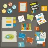 Elementos de papel das etiquetas. Fotos de Stock Royalty Free
