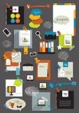 Elementos de papel das etiquetas. Imagem de Stock