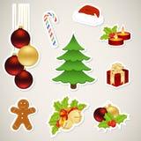 Elementos de papel do Natal Fotografia de Stock