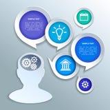Elementos de papel do projeto do infographics do negócio Fotografia de Stock Royalty Free