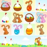 Elementos de Pascua stock de ilustración